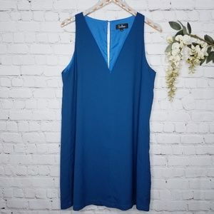 Lulus Near or Bar Blue Shift Dress